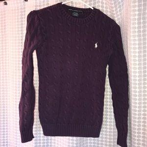 Purple Ralph Lauren Sport Sweater